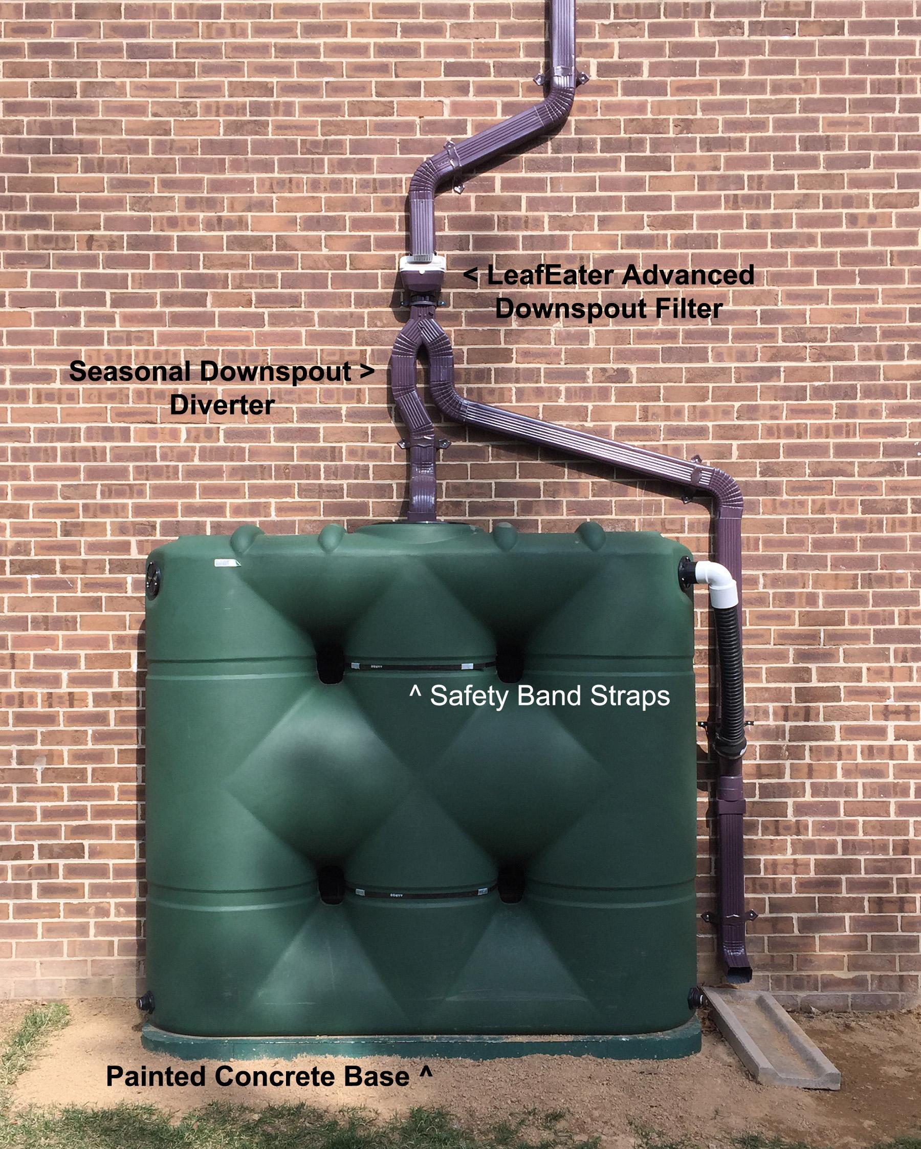 SlimLine Cistern : Aquabarrel com, Rain Barrels, Downspout