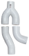 Downspout Diverter, Round, 3 inch, White, InLine