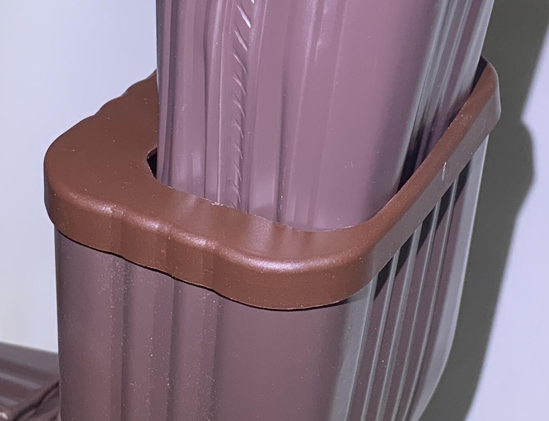 2x3 To 3x4 Cap Adapter Downspout To Downspout Adapter Abpdsadptr 2334 Top Aquabarrel Com Rain Barrels Downspout Diverters And Filters Rain Barrel Kits Aquabarrel R