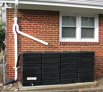4 RainBox Rain Barrels installed in Washington D.C.