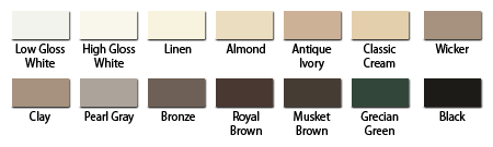 gutter downspout color chip chart