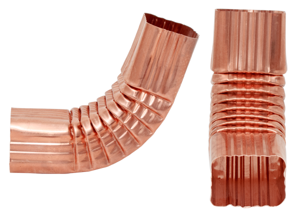 Style A, Copper, 75 Degree Downspout Elbow
