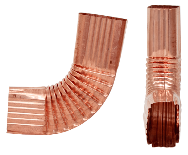 Style B, Copper, 75 Degree Downspout Elbow