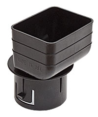 Universal Downspout Tile Adapter 2x3x3 Black