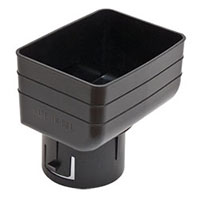 Universal Downspout Tile Adapter 3x4x3 Black