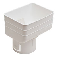 Universal downspout Adapter: 3x4x3 inches white