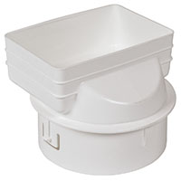 Universal downspout Adapter: 4x6x6 inches white